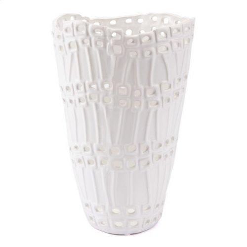 Cal Short Vase White