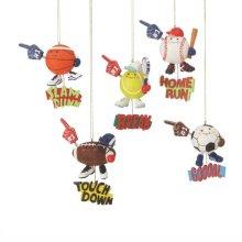 Sports Ball Ornament (5 asstd).