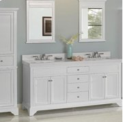 "Framingham 72"" Double Bowl Vanity - Polar White Product Image"