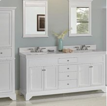 "Framingham 72"" Double Bowl Vanity - Polar White"