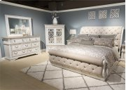 King Uph Sleigh Bed, Dresser & Mirror Product Image
