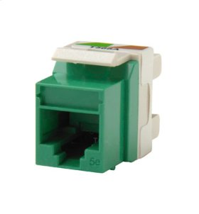 Category 5e Keystone jack, Green