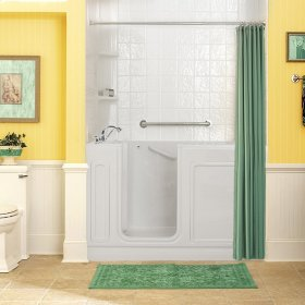 Acrylic Luxury Series 32x60 Combination Massage Walk-in Tub with Tub Filler, Left Drain  American Standard - White