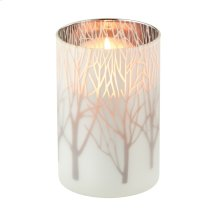 Large Frosted Tree Pillar Holder.
