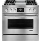 """Pro-Style® Dual-Fuel Range with Griddle and MultiMode® Convection, 36"""", Pro-Style® Stainless Product Image"""