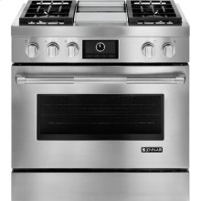"""Pro-Style® 36"""" Dual-Fuel Range with Griddle and MultiMode® Convection, Pro-Style® Stainless Handle"""