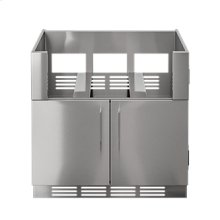 "OUTDOOR KITCHEN CABINETS IN STAINLESS STEEL  PURE 36"" Grill Base Cabinet 2 doors"