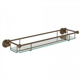 English Bronze Perrin & Rowe Edwardian Wall Mount Glass Vanity Shelf