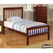 Parker Transitional Chestnut Twin Bed