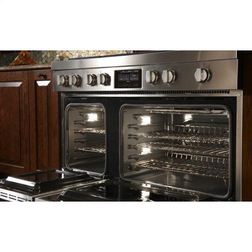 "Jenn-Air® Pro-Style® 48"" Dual-Fuel Range with Griddle and MultiMode® Convection - Pro Style Stainless"