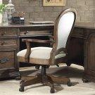 Belmeade - Round Back Upholstered Desk Chair - Old World Oak Finish Product Image