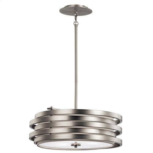 Roswell Collection 3 Light Pendant  Brushed Nickel