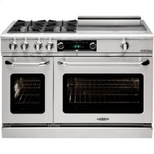 "48"" Range w/ 4 Open Burners Dbl Griddle"