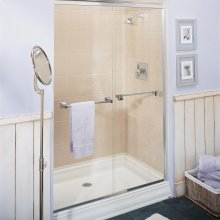 Town Square 48 Inch by 34 Inch Alcove Shower Base - White