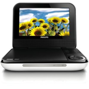 "Philips17.8 cm (7"") LCD Portable DVD Player"