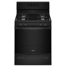 Whirlpool® 5.0 cu. ft. Freestanding Gas Range with Adjustable Self-Cleaning - Black