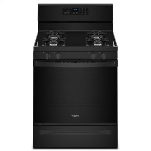 WhirlpoolWhirlpool® 5.0 cu. ft. Freestanding Gas Range with Adjustable Self-Cleaning - Black