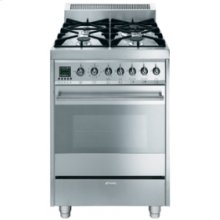Free-Standing Dual Fuel Range, 24 , Stainless Steel
