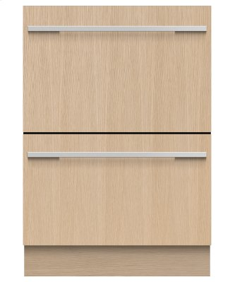 Integrated Double DishDrawer Dishwasher, Sanitize