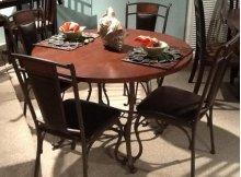 Tahoe Round Wood Top / Metal Dinette Table