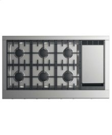 "48"" Professional Cooktop: 6 Burners With Griddle"