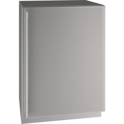 """5 Class 24"""" Refrigerator With Stainless Solid Finish and Field Reversible Door Swing (115 Volts / 60 Hz)"""