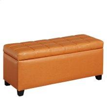 Abby Storage Ottoman in Orange