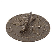 Dragonfly Sundial - French Bronze
