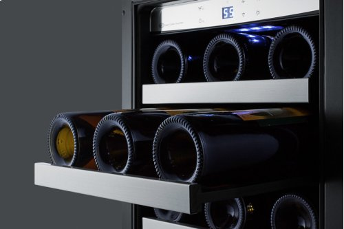 """15"""" Wide Built-in Wine and Craft Beer Center With Seamless Stainless Steel Trimmed Low-e Glass Door"""