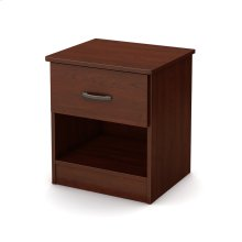 1-Drawer Nightstand - End Table with Storage - Royal Cherry