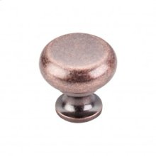 Flat Faced Knob 1 1/4 Inch - Antique Copper