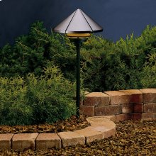 One Tier 12V Path Light Textured Architectural Bronze