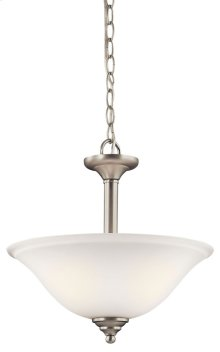 Armida 2 Light Convertible Inverted Pendant Brushed Nickel