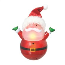 Lighted LED Roly Poly Mini Santa.