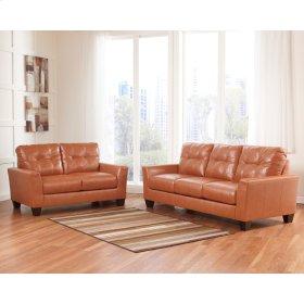 Benchcraft Paulie Living Room Set in Orange DuraBlend