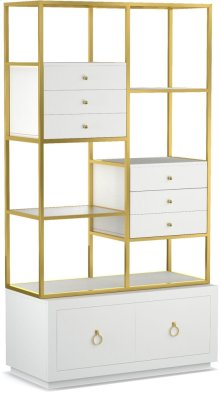 Swan Room Divider w/ File Storage