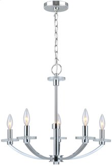 5-lite Chandelier Lamp, Chrome, E12 Type B 60wx5
