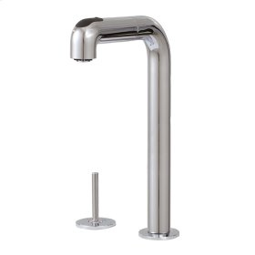 Pull-out dual stream mode kitchen faucet with side joystick