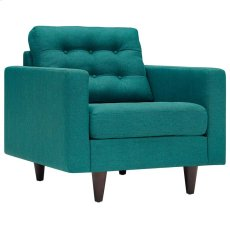 Empress Upholstered Armchair in Teal Product Image