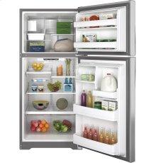 GE® ENERGY STAR® 18.2 Cu. Ft. Top-Freezer Refrigerator Scratch and dent unit on bargain center