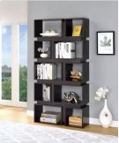 - Five tier, ten shelf bookcase finished in cappuccino- Constructed with MDF, particle board, and engineered veneer- Also available in white (#801447) Product Image