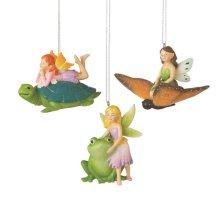 Fairy with Critter Ornament (3 asstd)