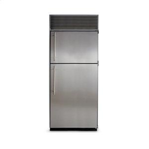 """36"""" Refrigerator with Top Freezer - 36"""" Marvel Refrigerator with Top Freezer - White Interior, Stainless Steel Door, Right Hinge"""