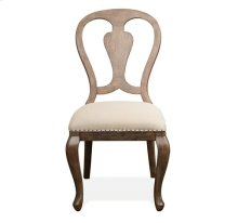 Upholstered Side Chair Amaretto finish