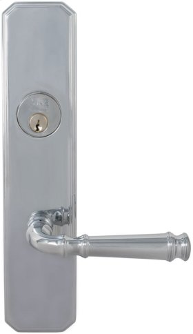 Exterior Traditional Mortise Entrance Lever Lockset with Plates in (US26 Polished Chrome Plated)