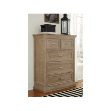 5-Drawer Chest in Taupe Gray