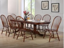 Sunset Trading 9 Piece Double Pedestal Extension Dining Set