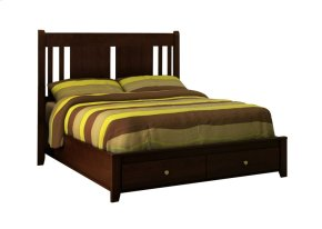 Rossport Low Profile Storage Bed (flat top)