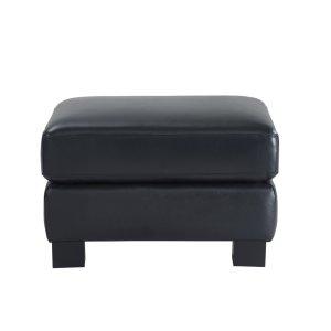 Leather Italia Usa 2052 Presley Ottoman L201k Black
