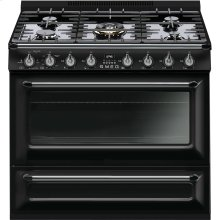 "Free-standing All-Gas ""Victoria"" Range 36"" - Glossy black"